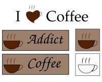 влюбленность кофе иллюстрация штока