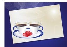 влюбленность кофе Иллюстрация вектора