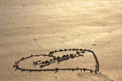 Влюбленность лета в песке Стоковое Фото