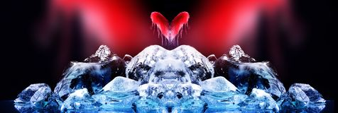 влюбленность льда Стоковое Изображение RF