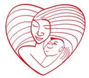 влюбленность материнская Стоковые Изображения RF