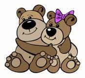 влюбленность медведя иллюстрация штока