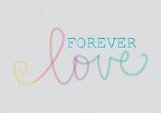 Влюбленность навсегда помечая буквами Стоковая Фотография