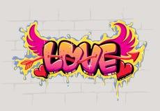 влюбленность надписи на стенах конструкции Стоковые Изображения