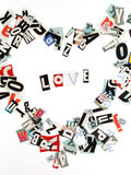 влюбленность надписи Стоковое фото RF