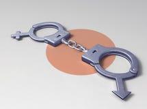 влюбленность наручника Стоковое фото RF