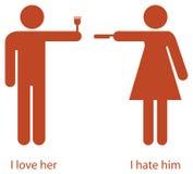 влюбленность ненависти Стоковая Фотография RF