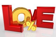 влюбленность нул финансов Стоковое Фото