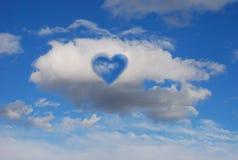влюбленность облаков Стоковые Фото