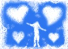 влюбленность облаков Стоковое Изображение RF