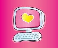 влюбленность он-лайн Стоковые Изображения
