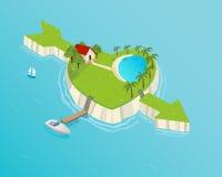 влюбленность острова иллюстрация штока
