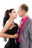 влюбленность пар запальчиво Стоковое Фото