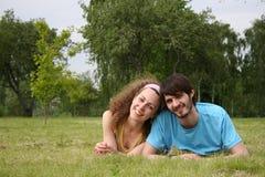 влюбленность пар понижаясь Стоковые Изображения RF
