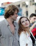 влюбленность пар счастливая стоковое изображение rf