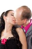 влюбленность пар целуя Стоковые Фото