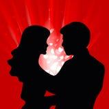 влюбленность пар Стоковое Изображение RF