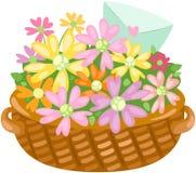 влюбленность письма цветка корзины бесплатная иллюстрация