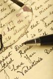 влюбленность письма Стоковые Фото