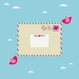 влюбленность письма Стоковое Изображение