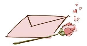 влюбленность письма Стоковые Изображения