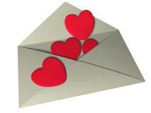 влюбленность письма Иллюстрация вектора
