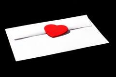 влюбленность письма Стоковые Изображения RF