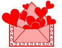 влюбленность письма Иллюстрация штока