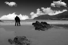 влюбленность пляжа Стоковое Изображение RF