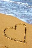 влюбленность пляжа Стоковое Фото