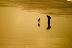 влюбленность пляжа Стоковые Изображения