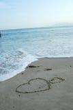 влюбленность пляжа Стоковое Изображение