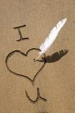 влюбленность пляжа Стоковые Фотографии RF