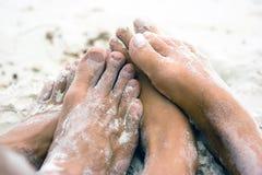 влюбленность пляжа Стоковая Фотография RF