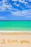 влюбленность пляжа i формулирует вас Стоковые Фото