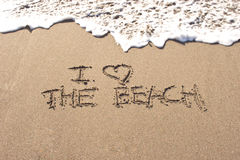 влюбленность пляжа i Стоковые Фото