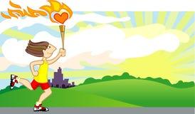 влюбленность пожара Стоковое Изображение RF