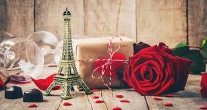 Влюбленность предпосылки и романтичное Стоковая Фотография