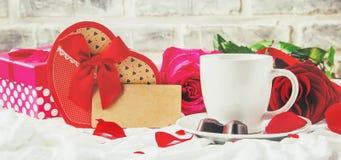 Влюбленность предпосылки и романтичное Стоковые Изображения RF