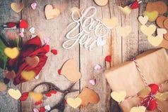 Влюбленность предпосылки и романтичное Стоковое Изображение
