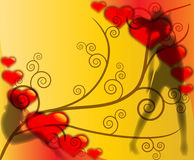 влюбленность предпосылки Бесплатная Иллюстрация