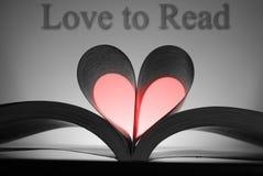 влюбленность прочитанная к Стоковые Фото