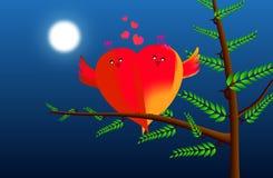 влюбленность птиц иллюстрация вектора