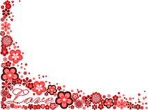 влюбленность рамки цветков сделала много слово Стоковое Фото