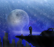 влюбленность рая Стоковое Изображение RF