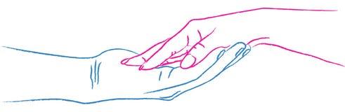 влюбленность рук иллюстрация штока