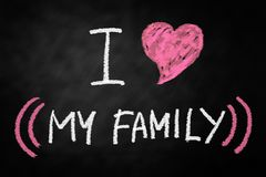 влюбленность семьи i моя Стоковые Фото