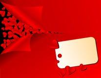 влюбленность сердец карточки Стоковое фото RF