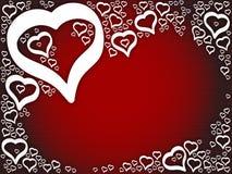 влюбленность сердец предпосылки Стоковое Фото