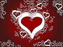 влюбленность сердец предпосылки Стоковая Фотография RF